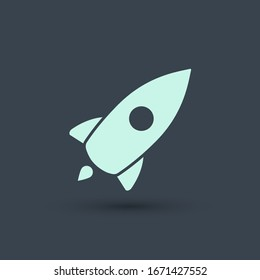 Web Startup icon isolated, spaceship