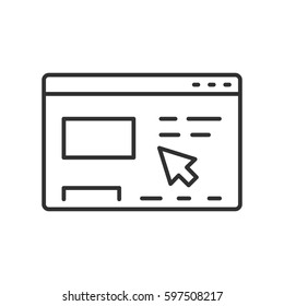 Web surfing. Site Page and cursor