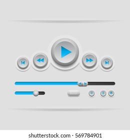 Web UI elements design. User interface. Vector illustration.