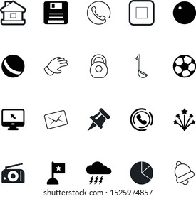 web vector icon set such as: storm, diagram, working, tone, ringer, new, online, christmas, climate, gloves, kids, jingle, stroke, cottage, alarm, garden, residence, travel, food, banner, fill, old