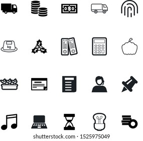 web vector icon set such as: callcenter, seasonal, pushpin, telemarketing, icons, loan, archive, planning, sport, watch, iron, ripe, ilex, notebook, calculator, salary, a, sprout, hour, pictogram
