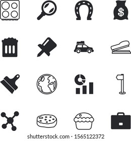 web vector icon set such as: environment, analytics, dinner, junk, cupcake, stock, pin, baggage, grill, birthday, europe, businessman, statistics, cream, bakery, plastic, seek, experiment, needle