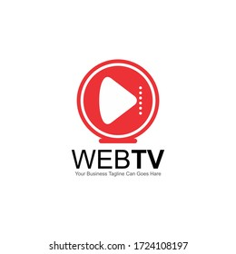 Web Video or TV Related Company Vector Logo Design Template