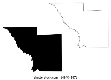 Webb County, Texas (Counties in Texas, United States of America,USA, U.S., US) map vector illustration, scribble sketch Webb map