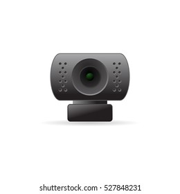 Webcam icon in color. Computer internet connection