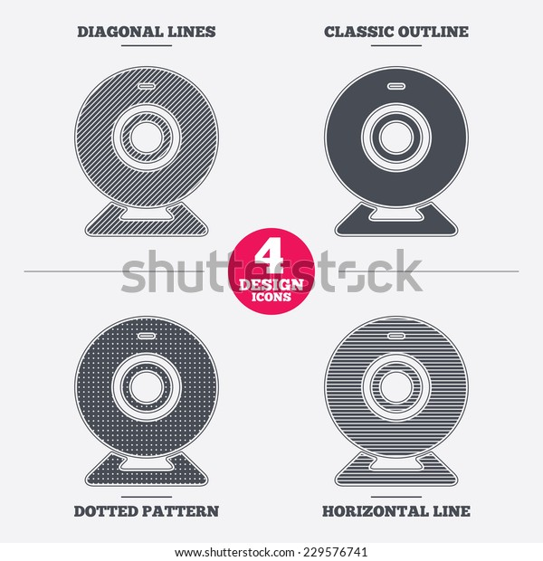 Webcam Sign Icon Web Video Chat Stock Vector Royalty Free 229576741