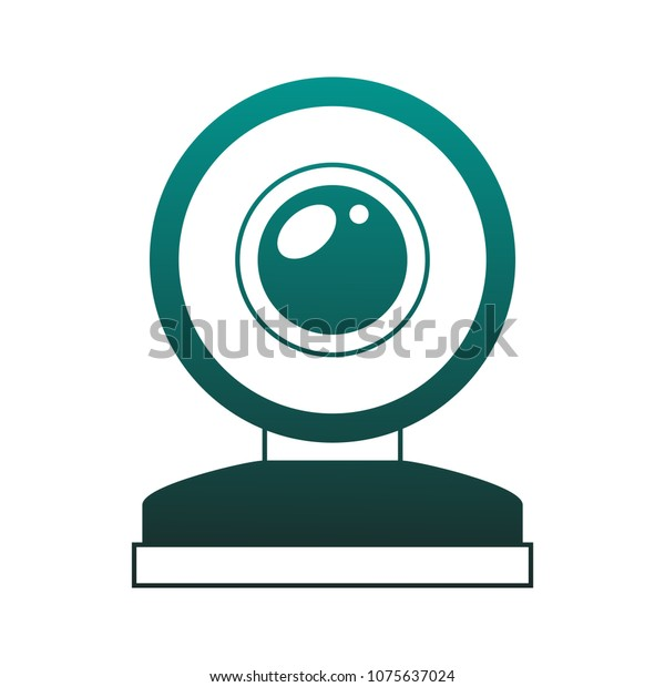 Webcam Technology Symbol On Blue Lines Stock Vector Royalty Free 1075637024