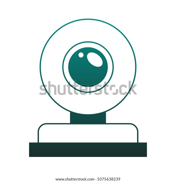 Webcam Technology Symbol On Blue Lines Stock Vector Royalty Free 1075638239