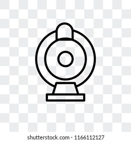 Webcam vector icon isolated on transparent background, Webcam logo concept