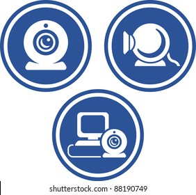 Webcams for videoconference - Vector icons