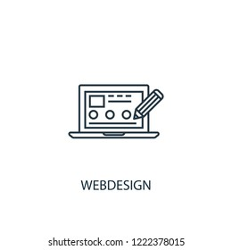 Webdesign concept line icon. Simple element illustration. Webdesign concept outline symbol design from SEO set. Can be used for web and mobile UI/UX