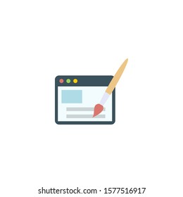 Webdesign creative icon. flat multicolored illustration. From SEO icons collection. Isolated Webdesign sign on white background.