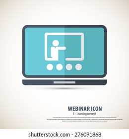 Webinar icon - background.EPS10 vector.All elements of artwork in separate layers.Can be used for any project.