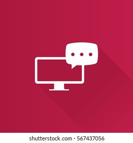 Webinar icon in Metro user interface color style. E-learning internet university