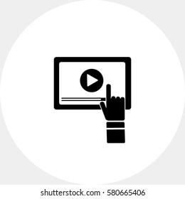 Webinar on Computer Screen Icon