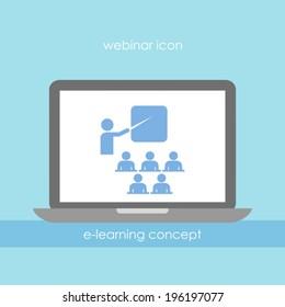 Webinar vector icon