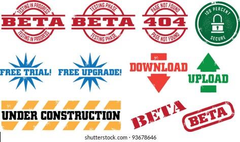 Web/Internet Development Stamps