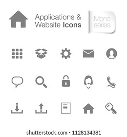 Webpage & applications icons
