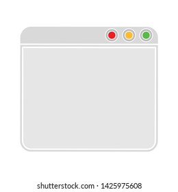 webpage icon. flat illustration of webpage vector icon for web