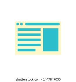 webpage  icon. Logo element illustration. webpage  design. colored collection. webpage  concept. Can be used in web and mobile