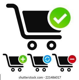 Webshop, shopping cart symbols