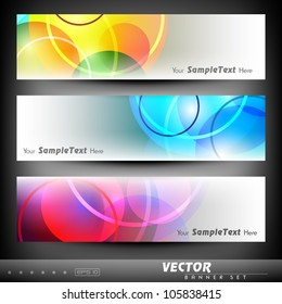Website banner or header with colorful abstract design. EPS 10.