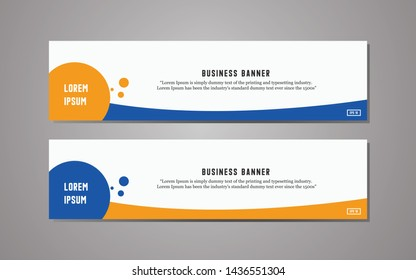 Website banner template design,modern template design, simple modern business banner template