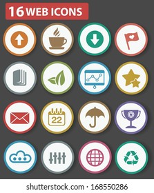 Website and business icons,Colorful version