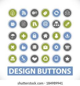 website design icons, buttons set. vector