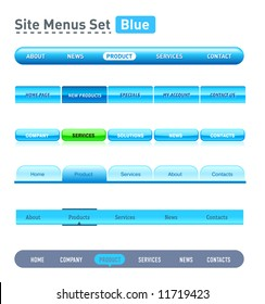 Website design set. All elements are separate objects and editable.