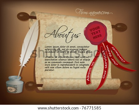 website design template old parchment paper stock vector royalty