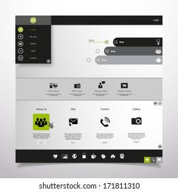 Website Design Template. Professional Minimal Theme, Vector illustration.