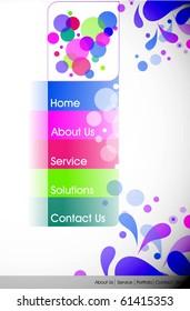 Website design template, Vector illustration.