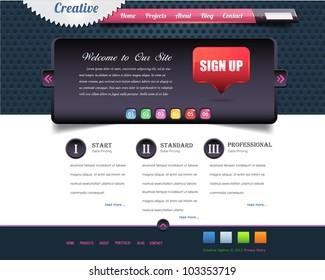 Website design vector elements