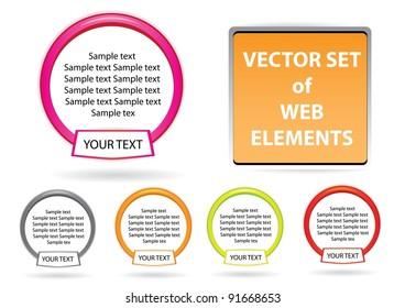 website elements design elements label set. Vector tags.