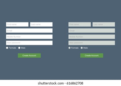 Website elements. Login, Registration - vector