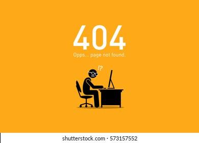 Website Error 404. Page Not Found.