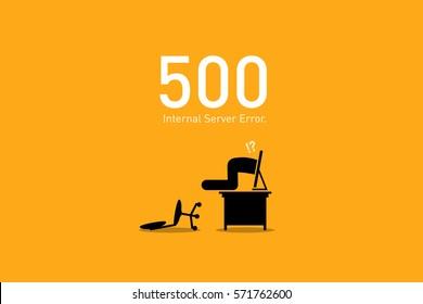 Website Error 500. Internal Server Error.