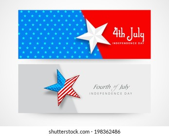 c561ad955cf Website Header or Banner design with stars on national flag colours  background for 4th of July