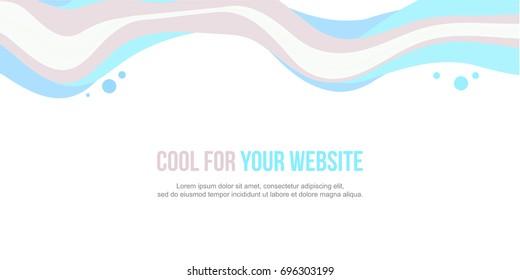 Website header colorful wave design