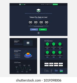 Website Home Page UI  for Pre-Sale, Website template.