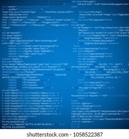 Website HTML abstract code blocks. web developing process vector illustration