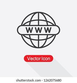 Website Icon, Globe Icon, WWW Icon Vector Illustration Eps10