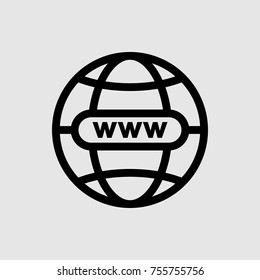 website icon, internet icon, go to web or internet icon