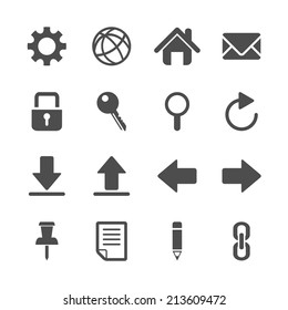 website icon set, vector eps10