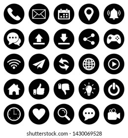website icon set vector symbol for web and mobile phone