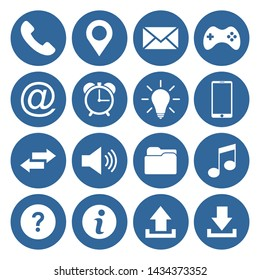 website icon set vector symbol for mobile phone and computer