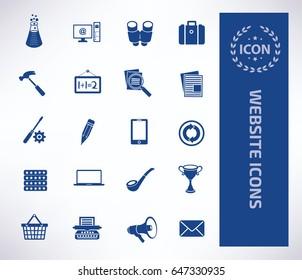 Website icon set,clean vector