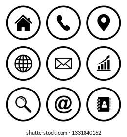 Website icon, Web icon Set, contact us icon vector