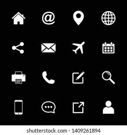Website icon, Web icon Set symbol vector